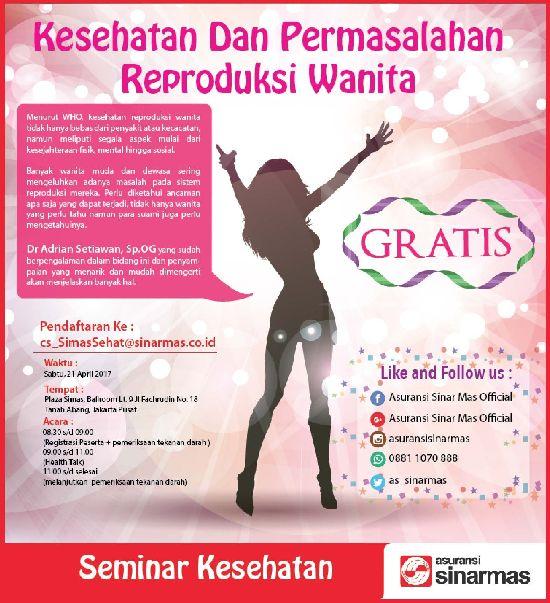Seminar Kesehatan Gratis Kesehatan Permasalahan Reproduksi Wanita